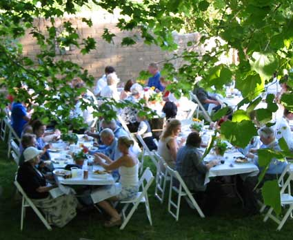 The Lodge is great for group events, including weddings!